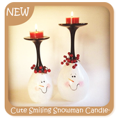 Cute Smiling Snowman Candleholder icon