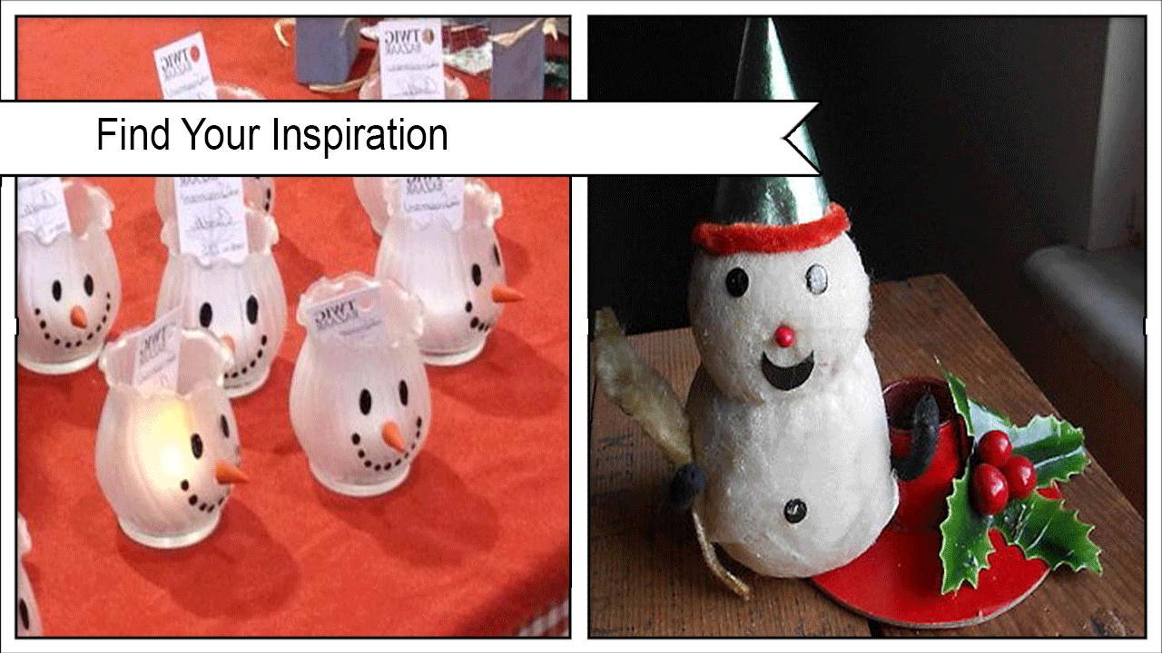 Cute Smiling Snowman Candleholder poster
