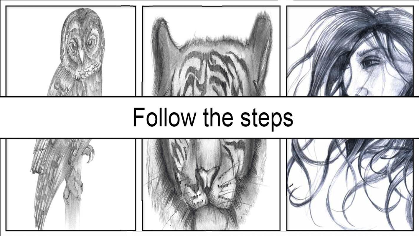 Easy pencil sketch tutorial screenshot 4