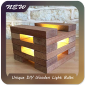 Unique DIY Wooden Light Bulbs icon