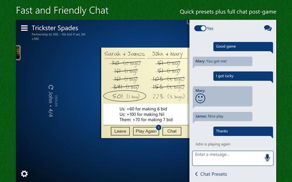 Trickster Spades apk screenshot