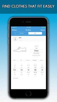 TryOn - Size Chart screenshot 2