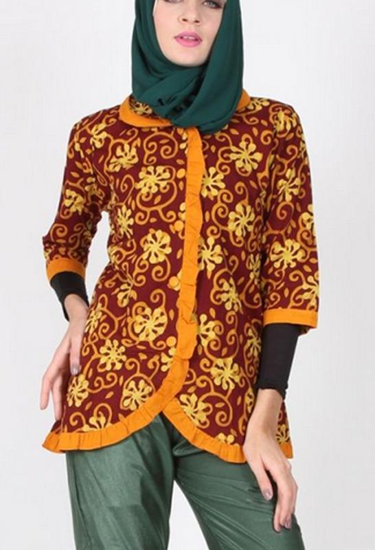 66 Model Baju Batik Muslim Gratis