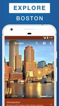 Boston Travel Guide poster