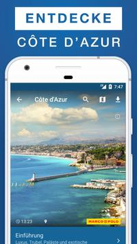 Côte d'Azur Reiseführer poster