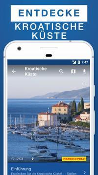 Kroatische Küste Reiseführer poster
