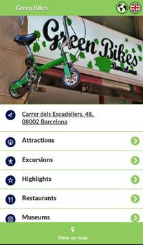 Green Bikes Barcelona poster