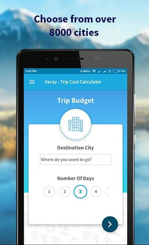 vacay trip cost calculator for android apk download