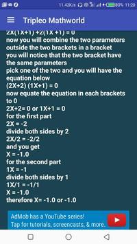 Tripleo Mathworld screenshot 2