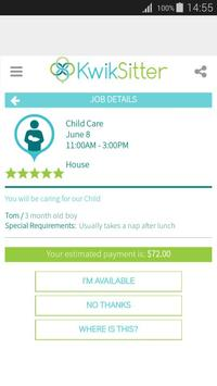 KwikSitter apk screenshot