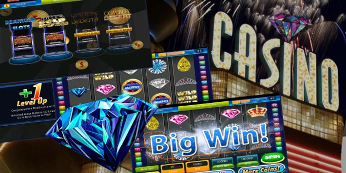 Diamond Jackpot Slot Machine : Vegas Slot Jackpots poster