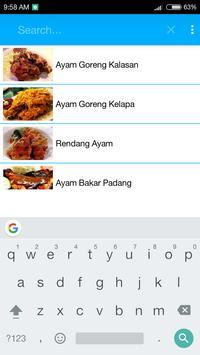 Resep Ayam apk screenshot