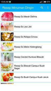 Resep Minuman Dingin apk screenshot