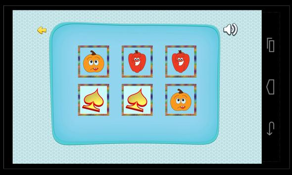 Puzzle Matching Vegetables poster