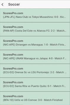 Sports Live Scores screenshot 1