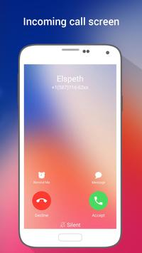 HD Phone X i Call Screen OS11 screenshot 1