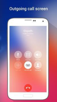 HD Phone X i Call Screen OS11 screenshot 2
