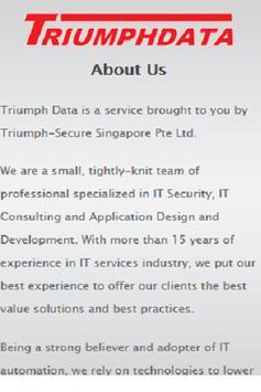 Triumph Data poster