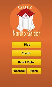 Quiz Naruto Gaiden poster