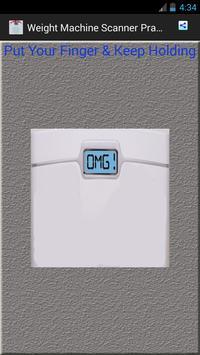 Weight Machine Scanner Prank apk screenshot