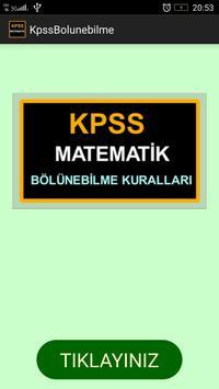 KPSS Matematik Bölünebilme poster