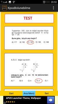KPSS Matematik Bölünebilme screenshot 4