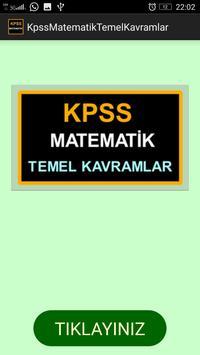 KPSS Matematik Temel Kavramlar poster