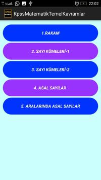 KPSS Matematik Temel Kavramlar screenshot 1