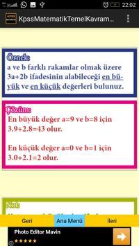 KPSS Matematik Temel Kavramlar screenshot 3