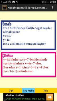 KPSS Matematik Temel Kavramlar screenshot 4