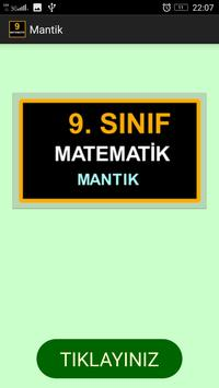 9. Sınıf Matematik Mantık poster