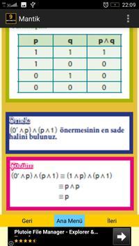 9. Sınıf Matematik Mantık apk screenshot