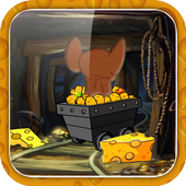 tom trolley and cheese icon