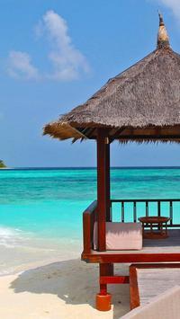 tropical paradise wallpaper poster