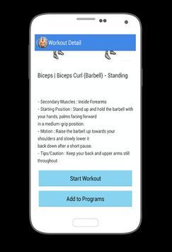 Plans Bodybuilding Workout apk screenshot