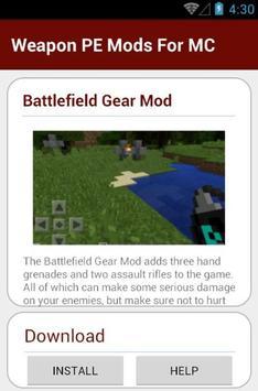 Weapon PE Mods For MC apk screenshot