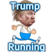 Trump Running Man icon