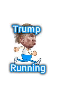 Trump Running Man poster