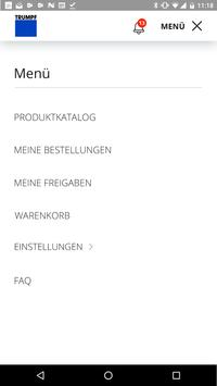 TRUMPF Easy Order App screenshot 1