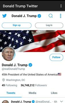Donald Trump Twitter poster