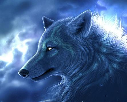 3d Wolf Theme Blue Lightning New Wallpapers For Android Apk Download