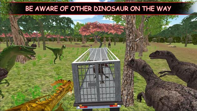 Dino Truck Transport : Angry Dinosaur  Capture poster