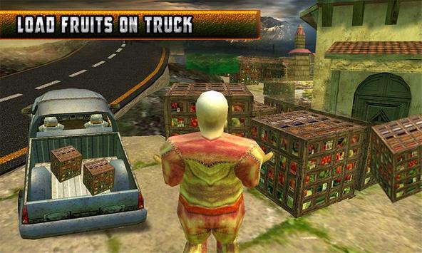 Truck Hill Transporter Fruits screenshot 2