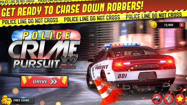 Police Car Crime Pursuit X2 3D poster