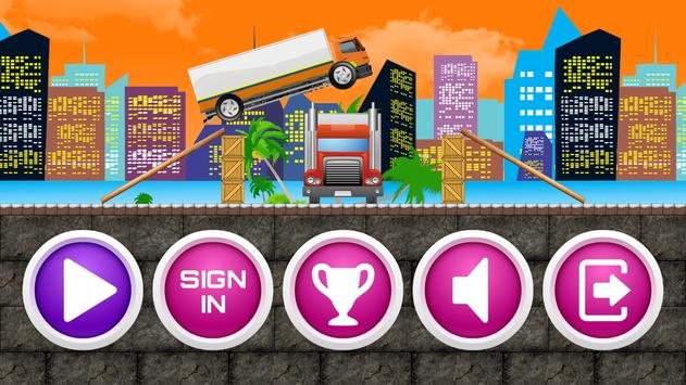 Truck Driver Transpoter Jump poster