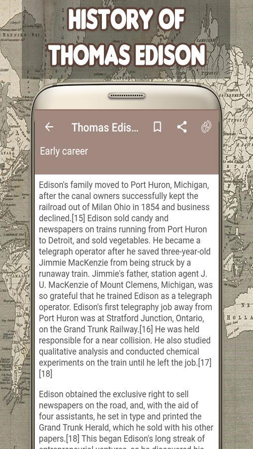 Thomas Edison Biography for Android - APK Download