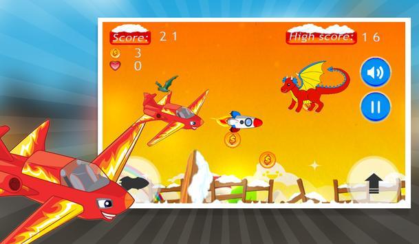 Flappy Blaze Monster Plane apk screenshot