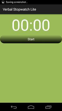 Verbal Stopwatch Lite apk screenshot