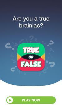 True or False Quiz poster