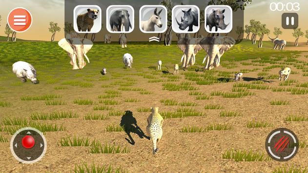 Cheetah Game 3D - Safari Animal Simulator screenshot 1